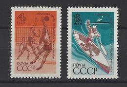 RUSSIE . YT 3508/3509 Neuf ** Championnats Européens 1969