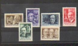 Belgique - 1955 - Série -Les IInventeurs - 973/978 N. S. Ch. Cote : 42 €  à - De 20% : 8 € - Belgique