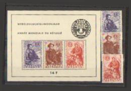 Belgique - 1960 - Bloc N° 32 + 1128/1130 - Année Du Réfugiés -  N. S. Ch. Cote : 157 €  à - De 20% : 30 € - Belgium