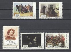 RUSSIE . YT 3513/3517 Neuf ** 125e Anniversaire De La Naissance Du Peintre I.E. Repine 1969
