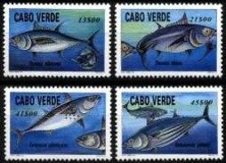 CAPE VERDE, 1997, MARINE FAUNA, TUNA FISH, R#377-80, MNH - Kap Verde