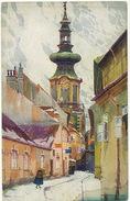 Bratislava Art Card By K. Cerny  Bastova Ulica Spot At The Bottom - Slovakia