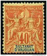 Anjouan (1892) N 10 * (Charniere) - Ongebruikt