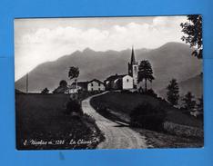 Valle D'Aosta -  S. NICOLAS - La CHIESA , Panorama  Vedi Descrizione.  (F) - Italia