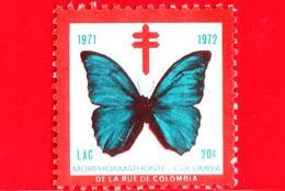 COLOMBIA - Usato - 1972 - LAC - TBC - Tubercolosi - Farfalla - 20