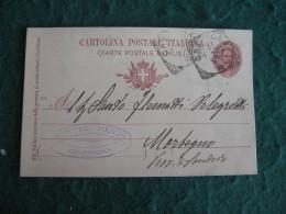 Regno Italia  CARTOLINA POSTALE 10 C -   1900 VITTORIO FIESCHI CREMONA    - 192 - 1878-00 Umberto I