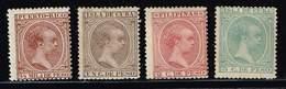 Kuba 1878/79 + 1890, Michel #  * - Cuba (1874-1898)