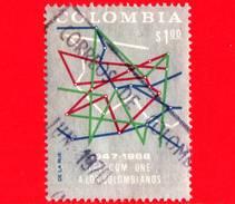 COLOMBIA - Usato -  1968 - 20° Anniv. Servizio Nazionale Telecomunicazioni (TELECOM) - 1.00