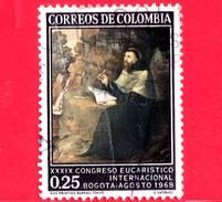 COLOMBIA - Usato -  1968 - 39 Congresso Eucaristico - S. Agostino Di G.Vasquez - 0.25