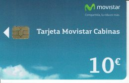 España - Spain Phonecard - Tarjeta Movistar Cabinas 10 Euros 10/14 , 160.000 Ex - Basic Issues