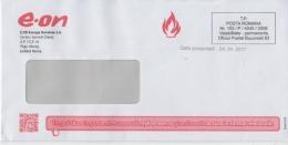 Romania Used Envelope  Methane Gas Icon Postmark Stamp Natural Gases Envelope - Circulated