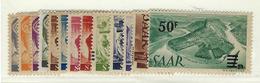 Colonie Française Variété SAAR N° 216 A à 228 A * Avec Charnière, TB ( Papier Jaunâtre ) Signé Brun - 1947-56 Protectorate