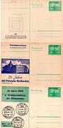 "(L) DDR 3 Versch.amtl. Ganzsachen M.priv.Zudruck""Neptunbrunnen,10Pf.smaragdgrün"" P79/ C4,C5,C8, Ungebraucht - [6] République Démocratique"