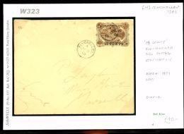 DBW323 1901SEYCHELLES 18c On 30c Stationery E Overprint SURCHARGE/Marseilles - Seychelles (...-1976)