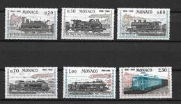 """MONACO 1968  Sèrie De 6 Valeurs  N° 752 à 757  """" 100 Ans Liaison Ferroviaire Avec Nice   """"   NEUFS - Unused Stamps"""