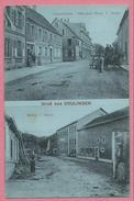 67 - GRUSS Aus DRULINGEN - Hauptstrasse - Mercerie Wwe C. WACK - Mühle L. MERTZ - Drulingen