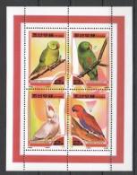 UU1 2000 KOREA FAUNA BIRDS PARROTS 1KB MNH