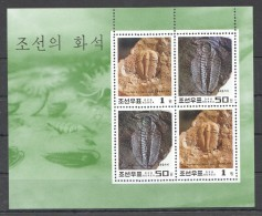 UU111 1997 KOREA FAUNA REPTILES DINOSAURS NATURE FOSSILS OF KOREA 1KB MNH