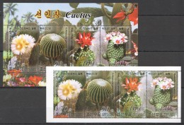 UU130 2004 KOREA FLORA FLOWERS CACTUS 2KB MNH