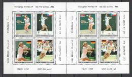 UU145 1986 KOREA SPORT TENNIS ROLAND GARROS WINNERS BECKER LENDL GRAF 1SH MNH