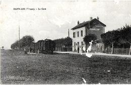 VOSGES 88 DAMBLAIN  LA GARE EDIT. PROT FRERES ECRITE CIRCULEE 1907 - France