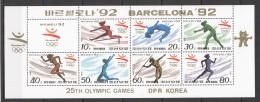 UU34 1992 KOREA SPORT OLYMPIC GAMES BARCELONA 92 1KB MNH