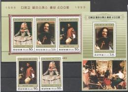 UU56 1999 KOREA ART DIEGO VELAZQUEZ 1KB+1BL+1SET MNH