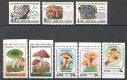 UU69 1987,1995,1999 KOREA NATURE MUSHROOMS 3SET MNH