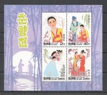 UU74 1998 KOREA ART CULTURE COSTUMES CLOTHES 1KB MNH