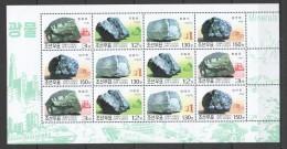 UU92 2002 KOREA NATURE MINERALS 1SH MNH