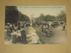 Cpa Animée 75 - Paris - L'avenue Du Bois De Boulogne à La Porte Dauphine - Couleurs - Automobile - ELD - Parks, Gardens