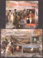 UU271 2016 REPUBLIQUE DE COTE D'IVOIRE NAPOLEONIC WARS WAR OF THE THIRD COALITION 1805 BL+KB MNH