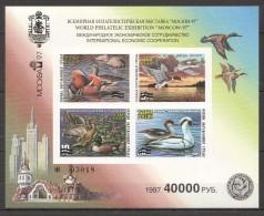 UU284 !!! IMPERFORATE 1991 RUSSIA FAUNA BIRDS DUCKS 1KB MNH