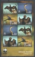 UU228 2014 GAMBIA FAUNA BIRDS WWF AFRICAN DARTER 1KB MNH
