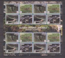 UU229 2016 GHANA WWF FAUNA REPTILES CROCODILES 1SH MNH