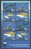 UU247 2014 GRENADA WWF MARINE LIFE OCEANIC WHITETIP SHARK 1KB MNH