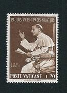 N°  434 Visite De S.S. Paul VI Aux Nations Unies     Timbre Vatican (1965) Oblitéré  20 L - Oblitérés