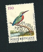 N°  855 Martin-pêcheur D'Europe (Alcedo Atthis)    Timbre Vatican (1989) Oblitéré  350 L - Vatican