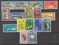Definitives 1965 St. Vincent Mi 205-219 MVLH (*) #8299 - St.Vincent (...-1979)