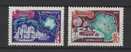 RUSSIE . YT 3583/3584 Neuf ** 150e Anniversaire De La Découverte De L'Antarctique 1970