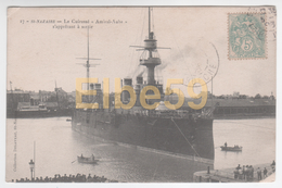 Marine Nationale, Cuirassé Amiral-Aube à St-Nazaire, écrite 1936 - Guerra