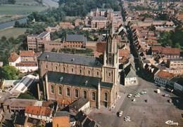Wetteren, Stationsplein, Kerk St Gertrudis, Luchtopname (pk36420) - Wetteren
