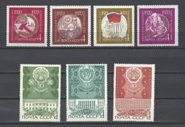 RUSSIE . YT 3594/3604B Neuf ** Cinquantenaire Des Républiques Autonomes 1970