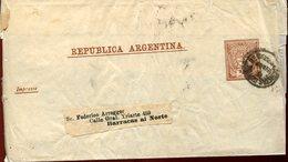 21864 Argentina, Faja Postal 1922 - Enteros Postales