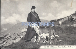 72735 SWITZERLAND COSTUMES RELIGIOUS AND DOGS OF THE GRAND ST BERNARD POSTAL POSTCARD - Suisse