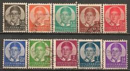 Timbres - Yougoslavie - 1933 - Lot De 10 Timbres - - 1931-1941 Royaume De Yougoslavie