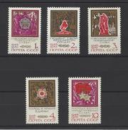 RUSSIE . YT 3623/3627 Neuf ** 25e Anniversaire De La Victoire Contre Le Fascisme 1970
