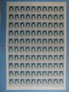 1928 1929 - FEUILLE COMPLETE NEUVE DE 100 VIGNETTES ANTITUBERCULEUX / COMITÉ NATIONAL CONTRE LA TUBERCULOSE - Commemorative Labels
