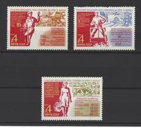 RUSSIE . YT 3662/3664  Neuf ** Décisions Du Plénum Du Parti Communiste 1970