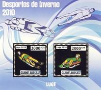 GUINE BISSAU 2010 SHEET WINTER SPORTS OLYMPIC GAMES JEUX DE HIVER LUGE DESPORTOS Gb10202a Gold - Guinea-Bissau